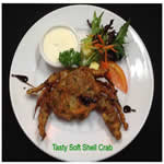 Springsure Overlander Motre Menu Tasty Soft Shell Crab