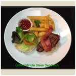 Springsure Overlander Motel Menu - Grilled Minute Steak Sandwich